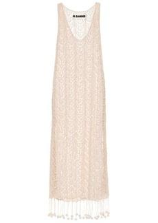 Jil Sander Crocheted cotton midi dress