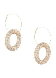 Jil Sander crystal-embellished hoop pendant earrings