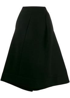 Jil Sander deconstructed flared skirt