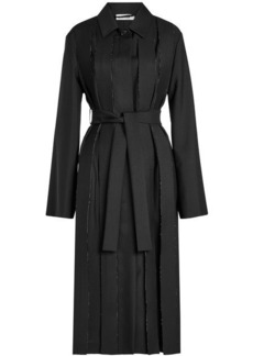Jil Sander Deconstructed Trench Coat in Wool and Mohair