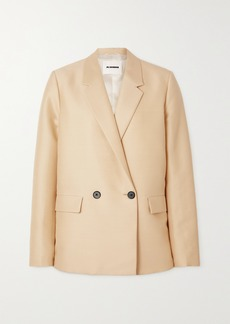 Jil Sander Double-breasted Wool And Silk-blend Blazer