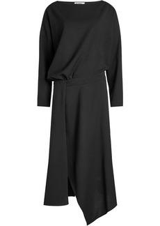 Jil Sander Draped Dress with Wool