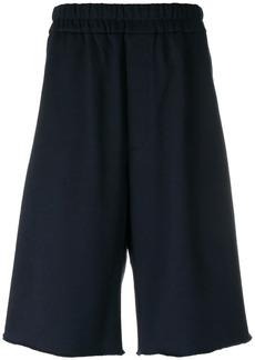 Jil Sander drop-crotch track shorts