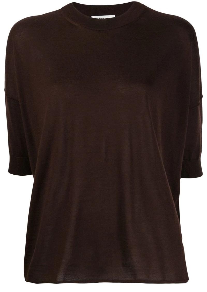 Jil Sander dropped-shoulder knitted top