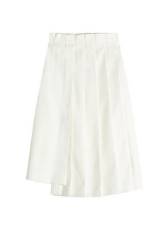 Jil Sander Earth Pleated Skirt with Cotton