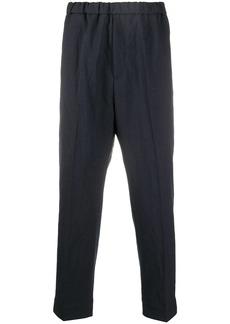 Jil Sander elasticated waistband cropped trousers