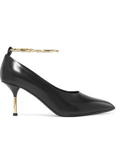 Jil Sander Embellished Leather Pumps