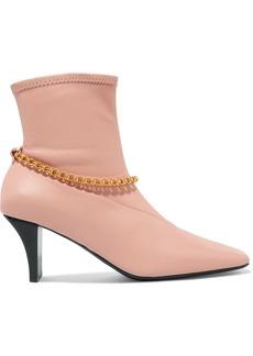Jil Sander Embellished Leather Sock Boots