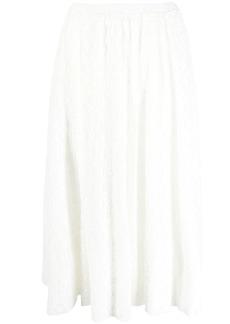 Jil Sander embroidered midi skirt