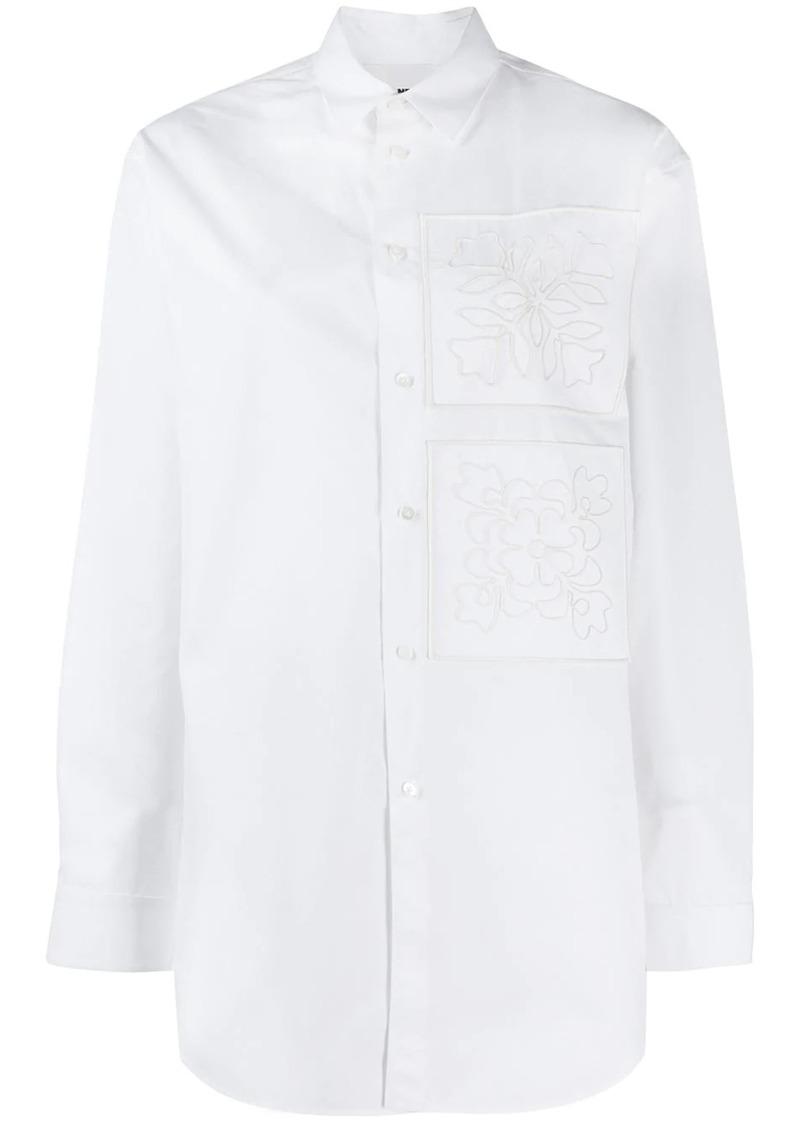 Jil Sander embroidered oversized shirt