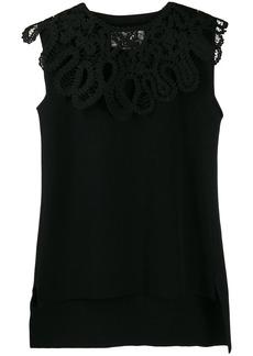 Jil Sander embroidered sleeveless top