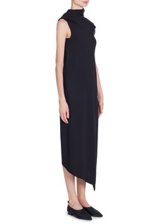 Jil Sander Envers Satin Asymmetric Wrap Gown