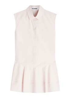 Jil Sander Erin Sleeveless Cotton Shirt
