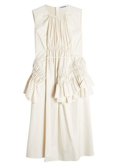 Jil Sander Escape Sleeveless Cotton Dress