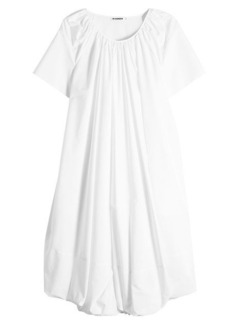 Jil Sander Eucalyptus Cotton Dress with Silk