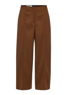 Jil Sander Farran Wide Leg Fleece Wool Pants