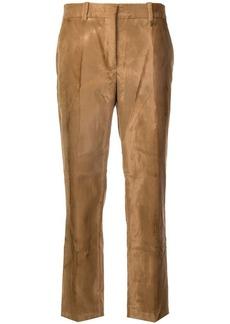 Jil Sander faux fur cropped trousers