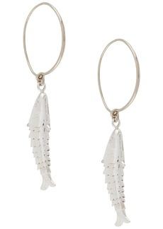 Jil Sander fish hoop earrings