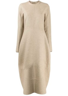 Jil Sander flared knit dress