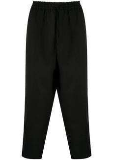 Jil Sander flat front drawstring trousers