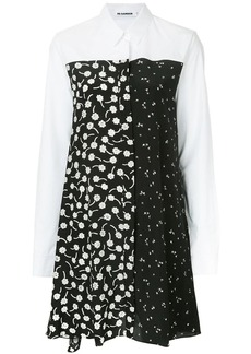 Jil Sander floral pattern shirt dress