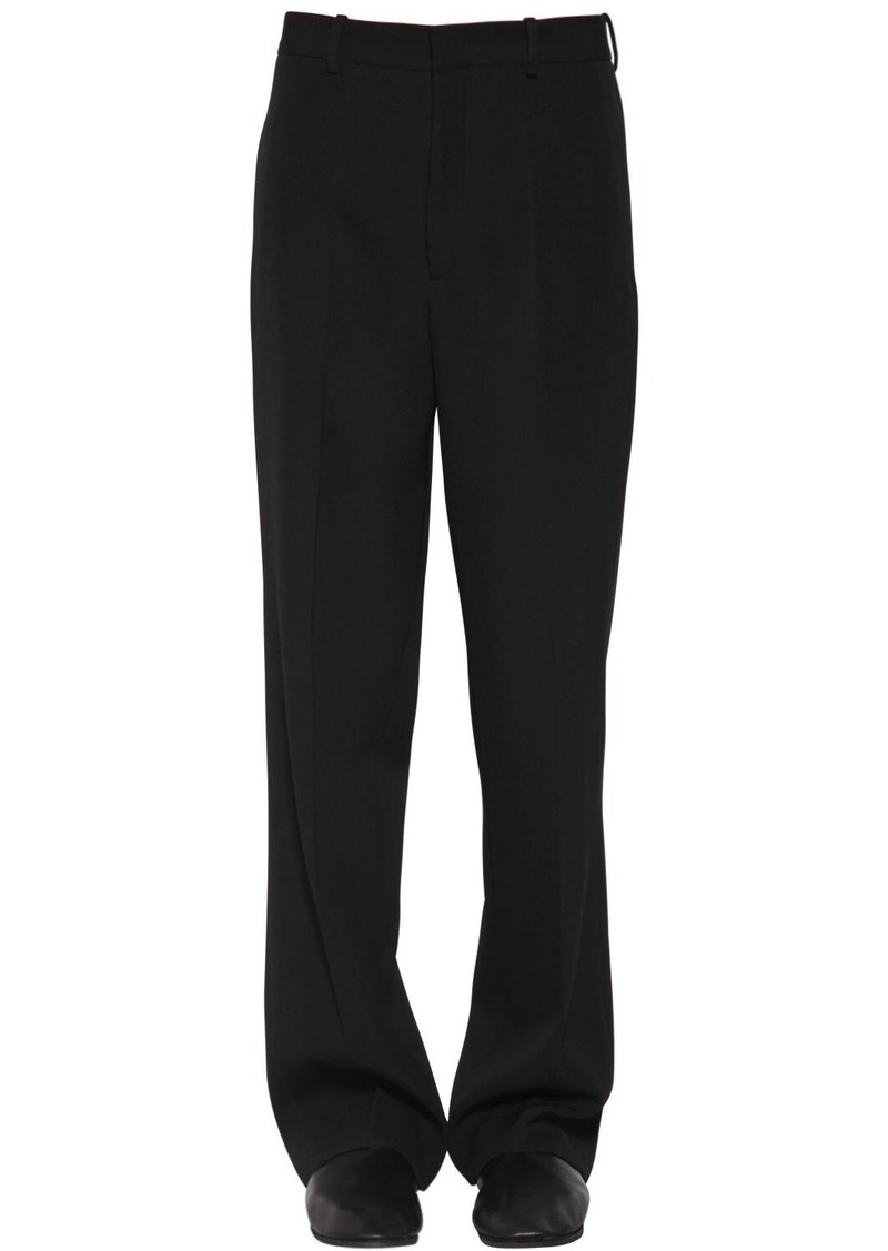 Jil Sander Fluid Flared Wool Gabardine Pants