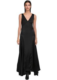 Jil Sander Fluid Satin Long Dress