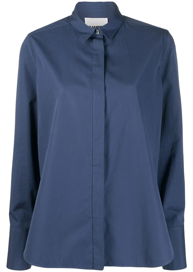 Jil Sander Francesca concealed placket shirt