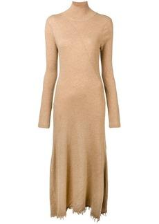 Jil Sander frayed knit dress