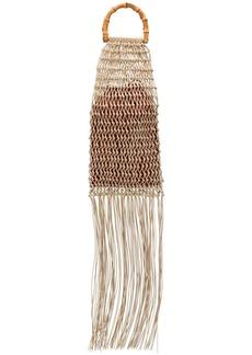 Jil Sander fringed braided tote