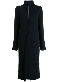 Jil Sander front slit midi knitted dress