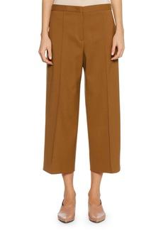 Jil Sander Full-Leg Virgin Wool Cropped Culotte Pants