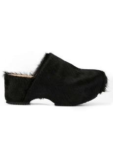 Jil Sander fur-covered clogs
