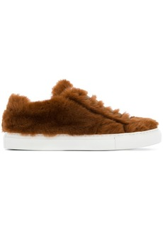 Jil Sander furry lace-up sneakers