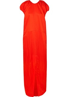 Jil Sander Gathered Crinkled-habotai Maxi Dress