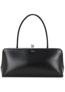 Jil Sander Goji Frame Smooth Leather Top Handle Bag