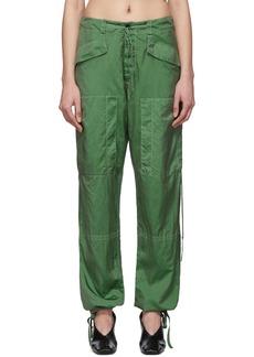 Jil Sander Green Packaway Trousers