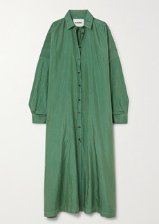 Jil Sander Hammered-satin Maxi Shirt Dress