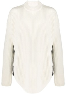 Jil Sander hand-crocheted side panel sweater