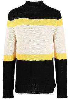 Jil Sander high-neck colour-block jumper