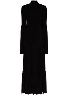 Jil Sander High-necked gathered hem dress
