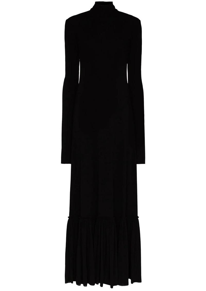 Jil Sander High-necked gathered hem dress
