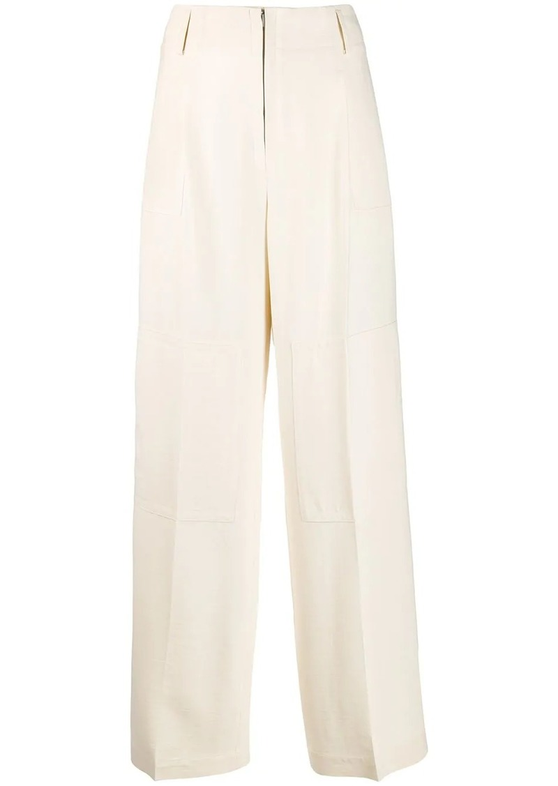 Jil Sander high rise wide-leg trousers