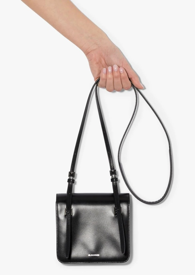 Jil Sander Holster extra small leather shoulder bag