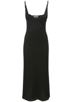 Jil Sander Jersey Crepe Midi Dress