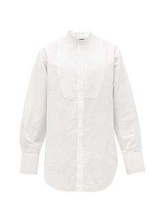 Jil Sander Achilles bibbed cotton and linen shirt