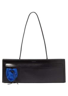 Jil Sander Adjustable mesh and leather tote bag