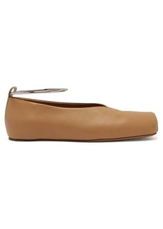 Jil Sander Ankle bracelet leather ballet flats