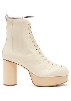 Jil Sander Ankle-bracelet leather platform boots