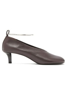 Jil Sander Ankle bracelet leather pumps